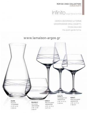 Κρυστάλλινα Ποτήρια Da Vinci Infinito