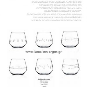 Κρυστάλλινα Ποτήρια Da Vinci Graffiti