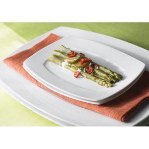 Πιάτο Τετράγωνο Ρηχό Λευκό Nagoya Shape