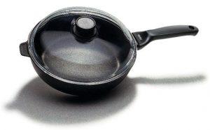Αντικολλητικό τηγάνι  βαθύ με καπάκι Risoli