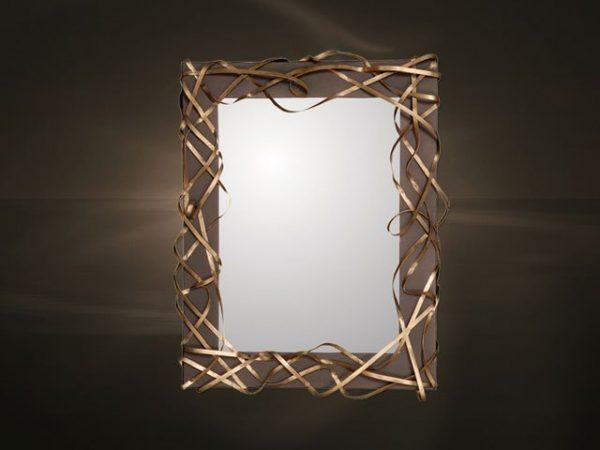 Καθρέπτης με διακοσμητική μεταλλική κορνίζα χειροποίητη
