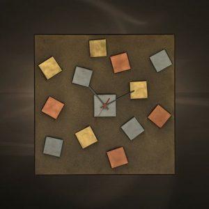 Ρολόγια τοίχου χειροποίητα μεταλλικά 417