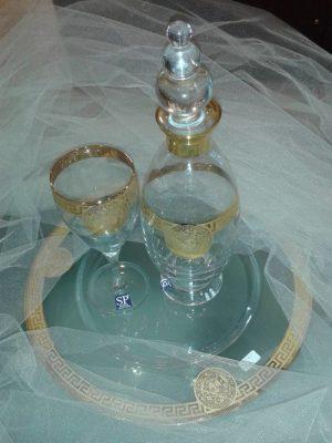 Καράφα δίσκος ποτήρι γάμου – Σετ γάμου