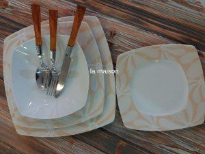 Σερβίτσιο πιάτων 20 τεμαχίων τετράγωνο