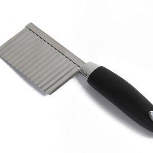 Κυματιστό μαχαίρι-πρέσσα πατάτας ανοξείδωτο με εργονομική λαβή σιλικόνης estia 01-2978