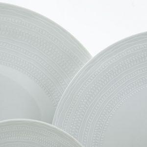 Σερβίτσιο Πιάτων white dream λευκό  Cryspo Trio