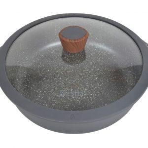 Ημιχύτρα-σωτεζα 28cm Stone χυτό αλουμίνιο estia 01-2404