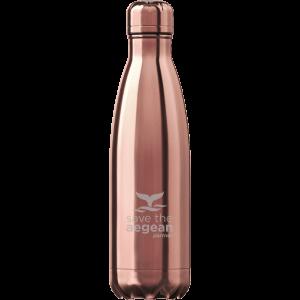 Θερμός μπουκάλι ανοξείδωτο Ροζ Gold estia 01-7836