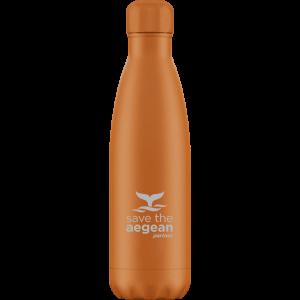 Θερμός μπουκάλι ανοξείδωτο 500ml Πορτοκαλί estia 01-7782