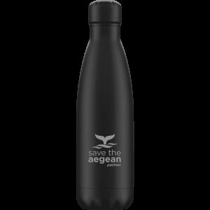 Ισοθερμικό μπουκάλι ανοξείδωτο 500ml Μαύρο estia 01-7799