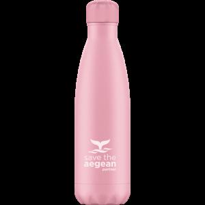 Ισοθερμικό μπουκάλι ανοξείδωτο 500ml Ροζ estia 01-7812