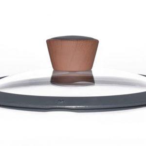 Καπάκι με στεφάνι σιλικόνης 28cm Stone estia 01-2169