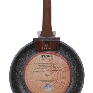 Τηγάνι 24cm Stone χυτό αλουμίνιο estia 01-1179