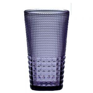 HFA Ποτήρι Pearls Purple 425ml Χυμού/Νερού/Αναψυκτικού