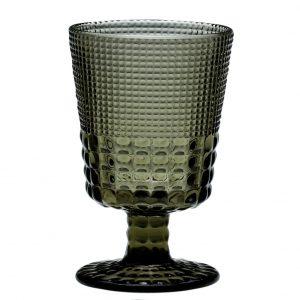 HFA Ποτήρι Pearls Grey 245ml Κολωνάτο Χαμηλό Πόδι Κρασιού