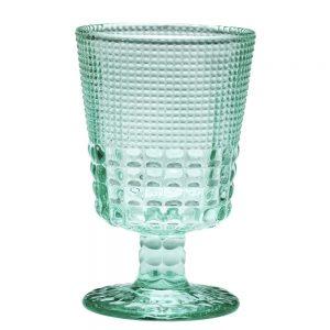 HFA Ποτήρι Pearls κολωνάτο χαμηλό πόδι 245ml Light Green