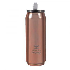 Coffee Flask 500ml Save the Aegean Rose Gold estia 01-7867