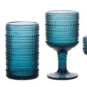 HFA Ποτήρι Drops κολωνάτο χαμηλό πόδι 215ml Ink Blue