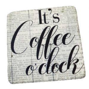 """ΣΟΥΒΕΡ ΣΕΤ/6 ΤΕΤΡΑΓ. """"COFFEE"""" 9.5Χ9.5ΕΚ. ESPIEL NIK315"""
