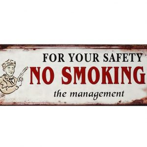 "ΤΑΜΠΕΛΑ ""NO SMOKING"" 13×36 CM ESPIEL LOG222"