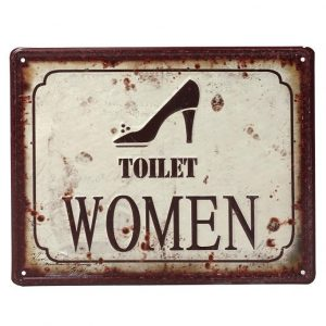 "ΤΑΜΠΕΛΑ ""TOILET WOMEN"" 20×25 CM ESPIEL LOG201"