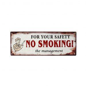 """ΤΑΜΠΕΛΑ """"NO SMOKING"""" 13×36 CM ESPIEL LOG222"""
