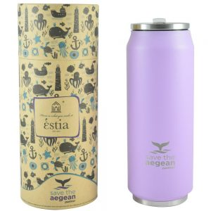Coffee flask 500ml Save the Aegean Purple matte estia 01-8581
