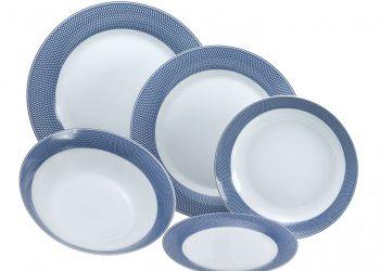 HFA σετ 20 τεμ. Σερβίτσιο Πιάτων Πορσελάνης Ellipsis Blue